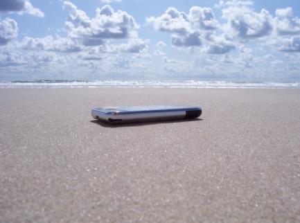 Iphone Apps am Strand benutzen
